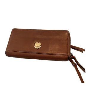 Lucky Brand Double 3/4 Zip Wallet Medium Brown